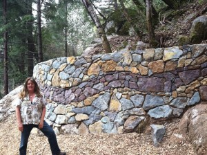 Rockwork along the new trail sections, constructed by partner organization Forest Trails Alliance